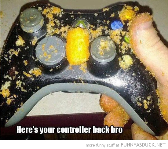 funny-xbox-gaming-controller-back-bro-cheetos-crumbs-dirty-pics